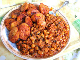 beans and plantain as Nigerian dishes for dinner