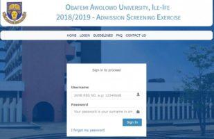 OAU post Utme Result