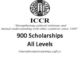 ICCR GOVERNMENT OF INDIA SCHOLARSHIPS