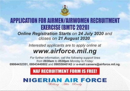 Nigerian Airforce Recruitment Portal