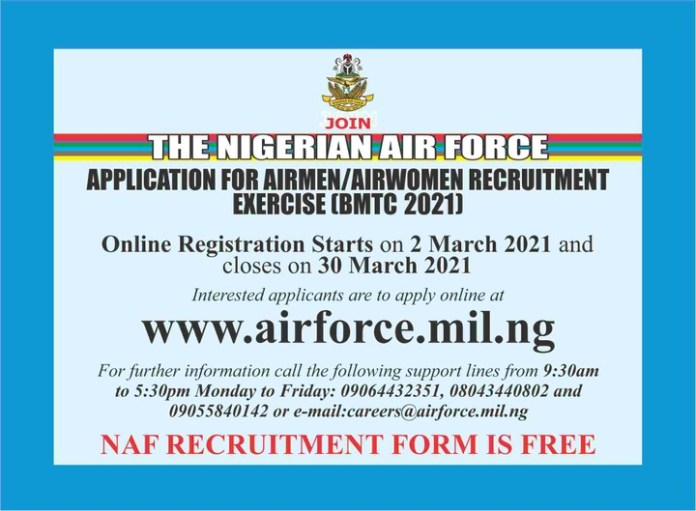 Nigerian airforce recruitmrnt form