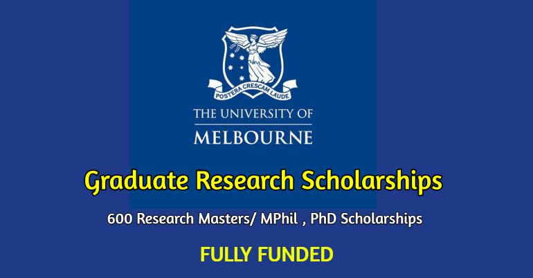 University of Melbourne Graduate Research Scholarship 2020/2021 for International Students